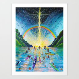The Paddle Out Art Print