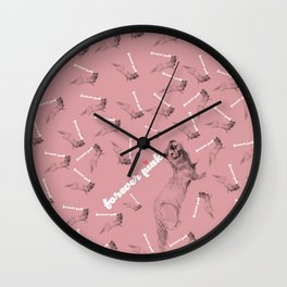 Forever pink pattern Wall Clock