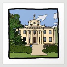 Cambridge Struggles: Downing College Art Print