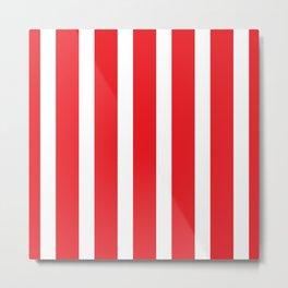 Resort Stripe in Red Metal Print