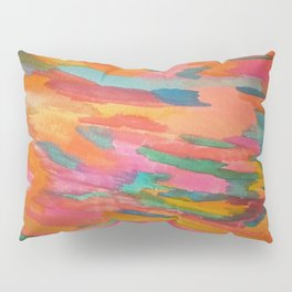 Rainbow Sherbet Abstract Painting Pillow Sham