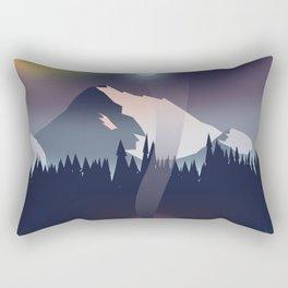 Iceland Northern lights travel poster Rectangular Pillow