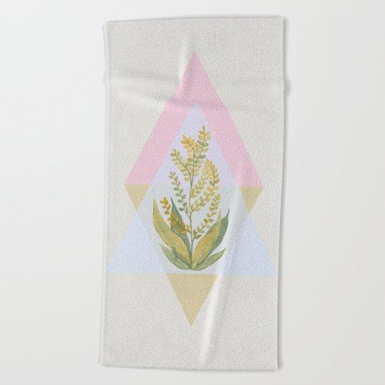 Botanical vibes 09 Beach Towel