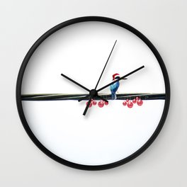 Tis The Season - Kingfisher Wall Clock