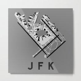 JFK Airport Diagram Metal Print