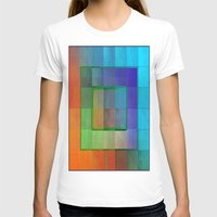 aperture T-shirts featuring Aperture #2 Fractal Pleat Texture Colorful Design by CAP Artwork & Design