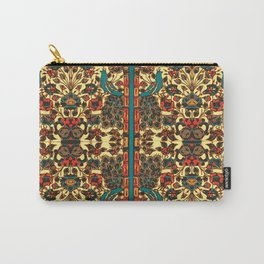 peacock in persian tile paradise Carry-All Pouch