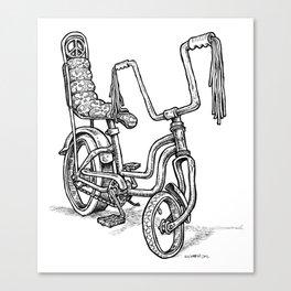 'Slicks R 4 Chicks' - Girls Mod Stingray Muscle Bike Cartoon Retro Bicycle Canvas Print