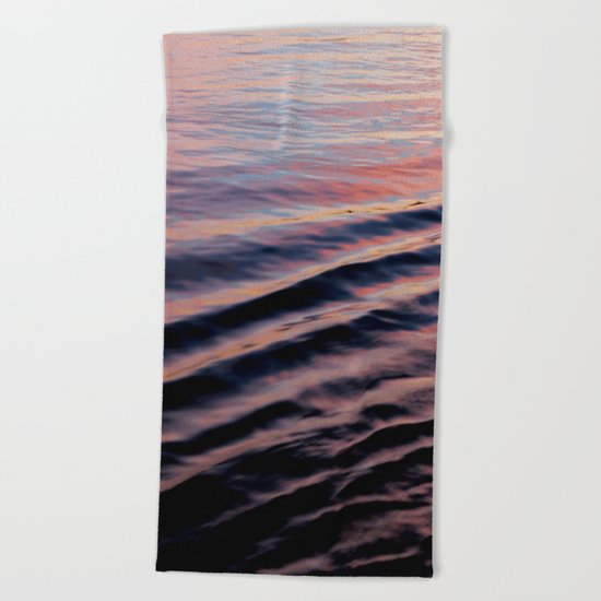 PINK RIPPLES Beach Towel