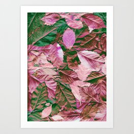 The emerald and ruby scattered carpet Art Print
