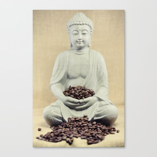 Coffee beans Buddha 3 Canvas Print