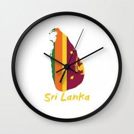 Sri Lanka Map Proud Sri Lankan Asia Gift Wall Clock