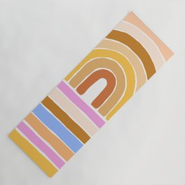 rainbow : tan Yoga Mat