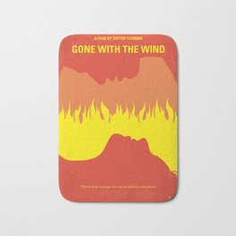 No299 My Gone the Wind with minimal movie poster Bath Mat