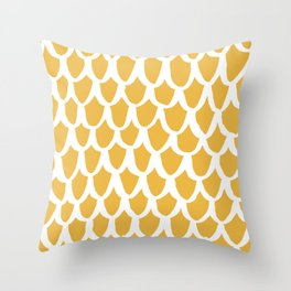 yellow scallop Throw Pillow