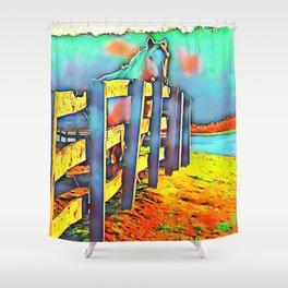 Autumn Horse Shower Curtain