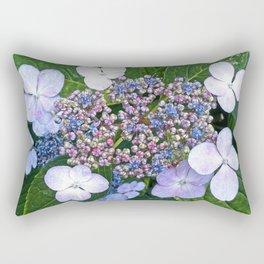 Lacecap Hydrangea Rectangular Pillow