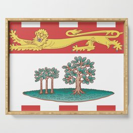 flag of prince edward island 2 -pei,islander,Charlottetown Serving Tray