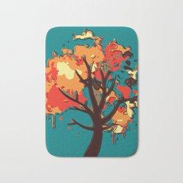 Autumn Tree Abstract Bath Mat