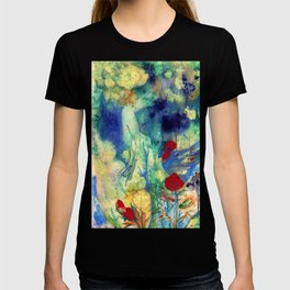 Fairy with Red Flowers T-shirt
