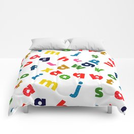 colourful alphabet Comforters