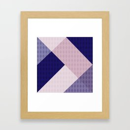 Pink blue patchwork . The combined pattern . Framed Art Print