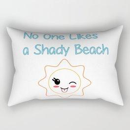 Shady Beach Rectangular Pillow