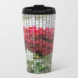 Red Rose with Light 1 Mosaic Travel Mug