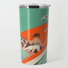 Vintage poster - Lake Winnipesaukee Travel Mug