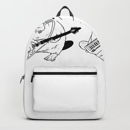 Keytar Platypus Venn Diagram White and Black Backpack