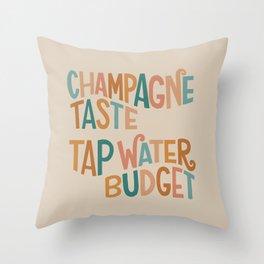 Champagne Taste Throw Pillow