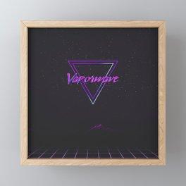 Vaporwave Aesthetic Framed Mini Art Print