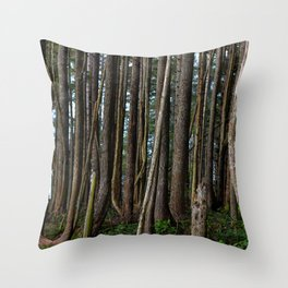 Cape Flattery Trees 2 Throw Pillow