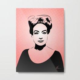 Joan Crawford | Hollywood Royalty | Pop Art Metal Print
