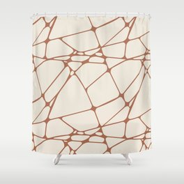 Cavern Clay SW 7701 Abstract Mosaic Pattern 1 on Creamy Off White SW7012 Shower Curtain