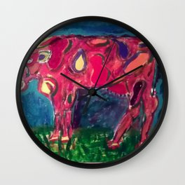 Holstein for Halie Wall Clock