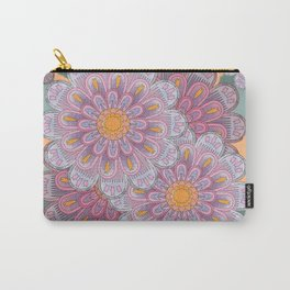 Zinnia Mandala bright Carry-All Pouch