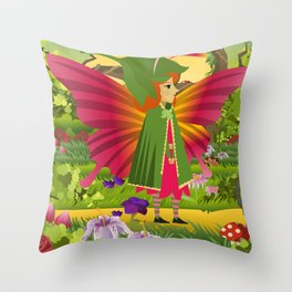 cute colorful butterfly Throw Pillow