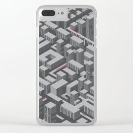 Brutalist Utopia Clear iPhone Case