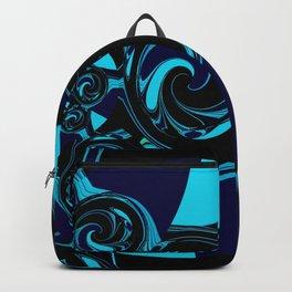 Dark Ocean Waves Backpack