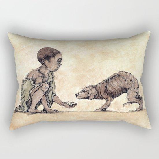 Boy and Puppy Rectangular Pillow