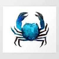 Cerulean blue Crustacean Art Print