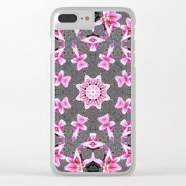 "Kaleidoscope ""LILY STARGAZER"" Clear iPhone Case"