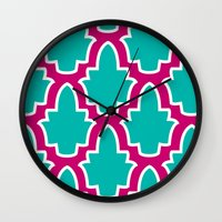 moroccan Wall Clocks featuring Moroccan by Farah Saheb