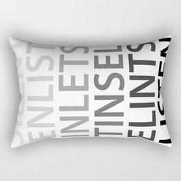 Silent Listen Rectangular Pillow