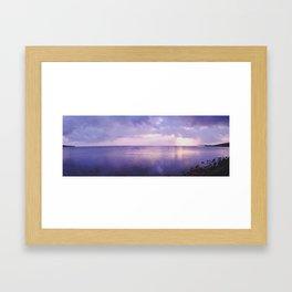 Oahu Sunset - Panoramic Framed Art Print