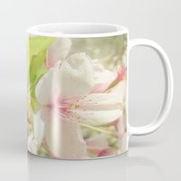 cherry blossom Mugs featuring Cherry Blossom by Cassia Beck