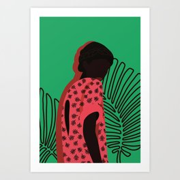 Pink lady in the nature Art Print