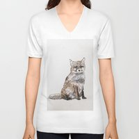 roald dahl V-neck T-shirts featuring Fox by Killerwinter
