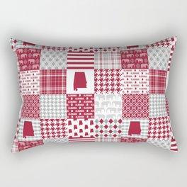 Alabama bama crimson tide cheater quilt state college university pattern footabll Rectangular Pillow